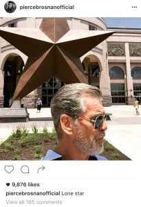 Pierce Brosnan at the Bob Bullock Museum
