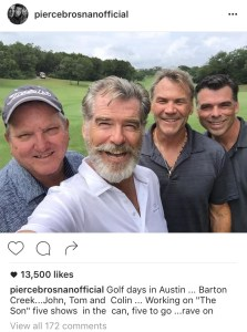 Pierce Brosnan in Austin