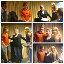 Kelly Clarkson poses with fans at fans at the Texas Book Festival.
