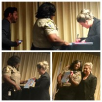 Kelly Clarkson signs copies of River Rose and the Magical Lullaby.