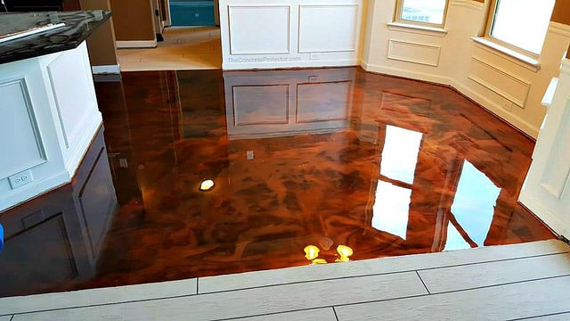 Residential Stained Concrete Floors: Epoxy Floor Austin TX