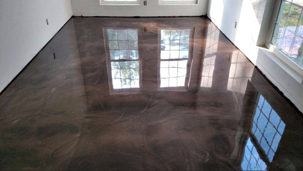 metallic epoxy coating for residential and commercial in austin