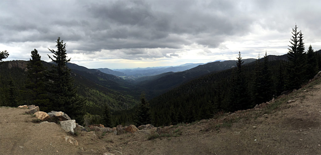 Near the top of Mount Evans.