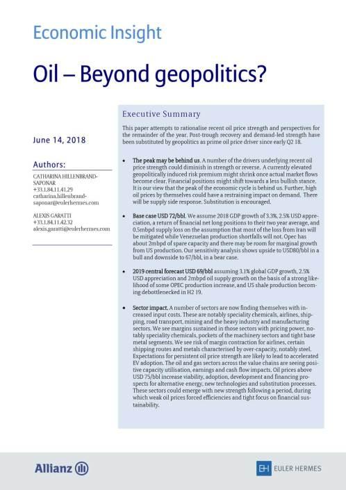 Oil - Beyond geopolitics?