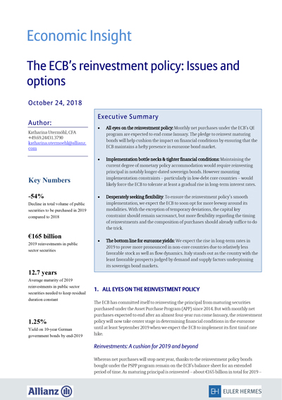 The ECB's reinvestment policy: Issues and options