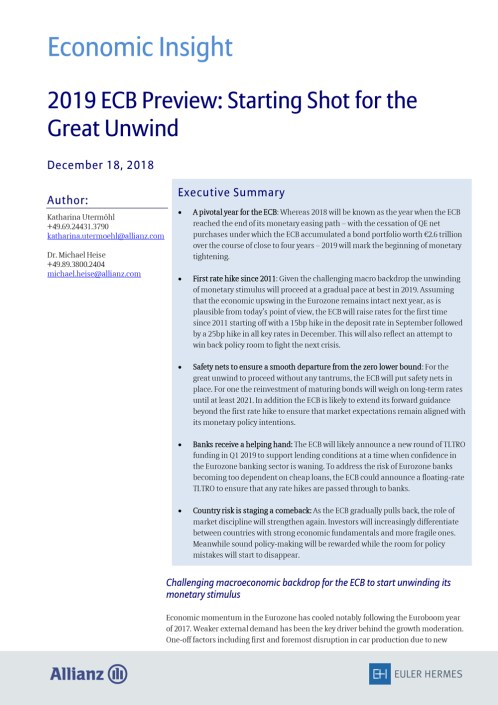 Starting Shot for the Great Unwind