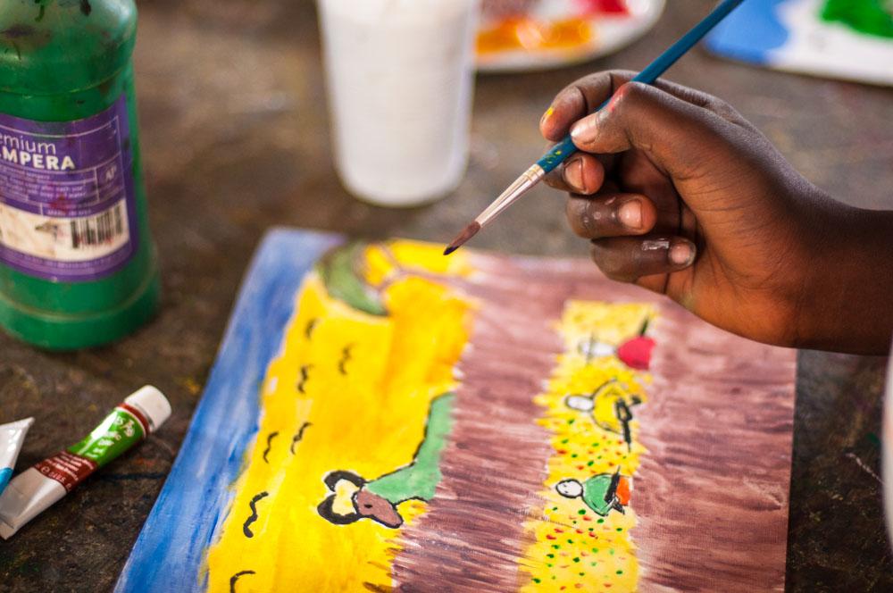 Cours de peinture à Naivasha