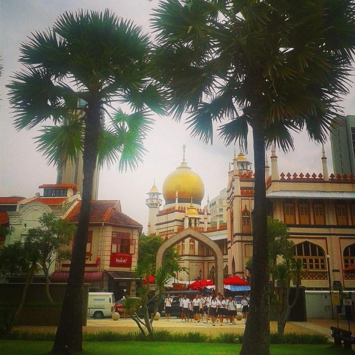La Mosquée du Sultan (Masjid Sultan) depuis le Malay Heritage Centre