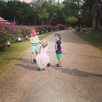 Dans le parc aménagé, on croise même des princesses à trotinettes