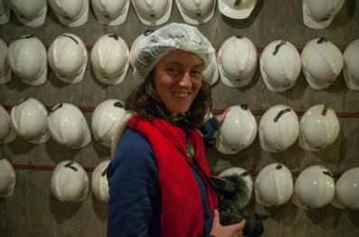 Visite de la mine de Bendigo - toujours important de se protéger