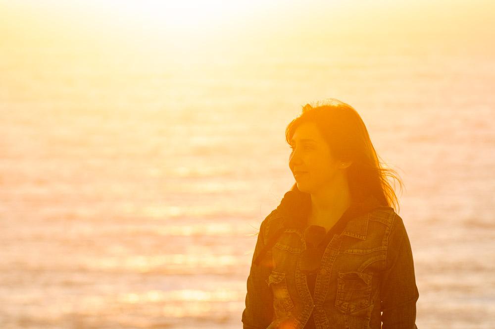 Portrait de Vanessa au coucher du soleil