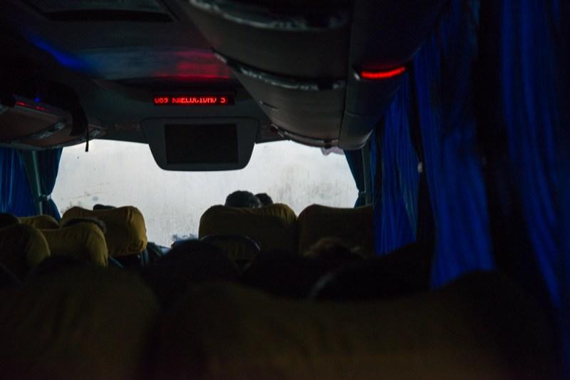 contrôle de vitesse dans les bus au chili
