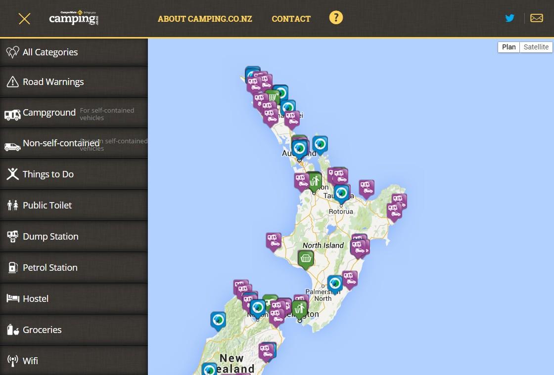 application_Campermate_Nouvelle_zelande