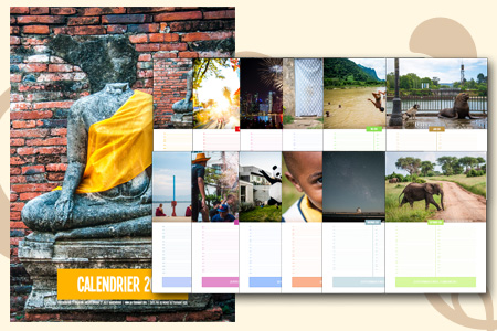 Calendrier 2015 de voyage