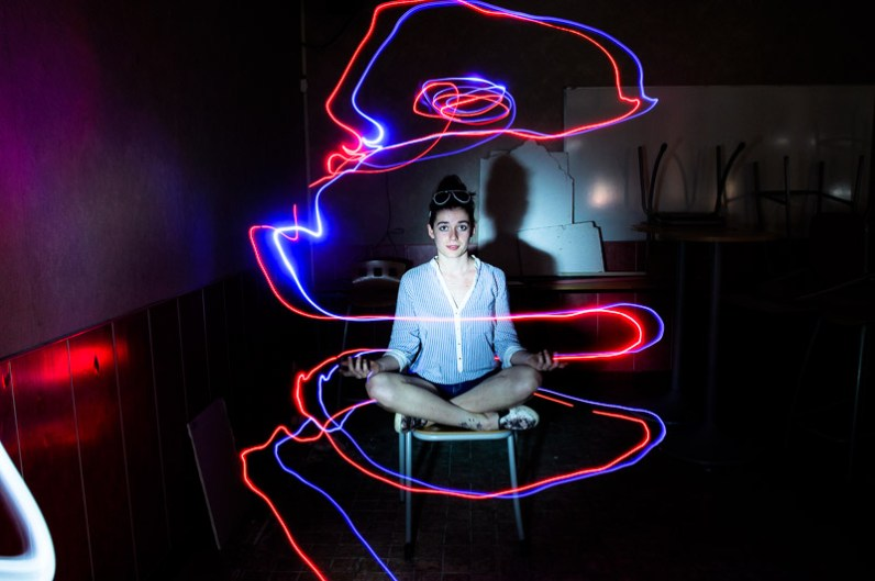 lightpainting / © Du Monde au Tournant