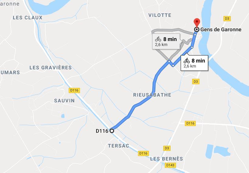 Couthures-sur-Garonne - canal des 2 mers à vélo
