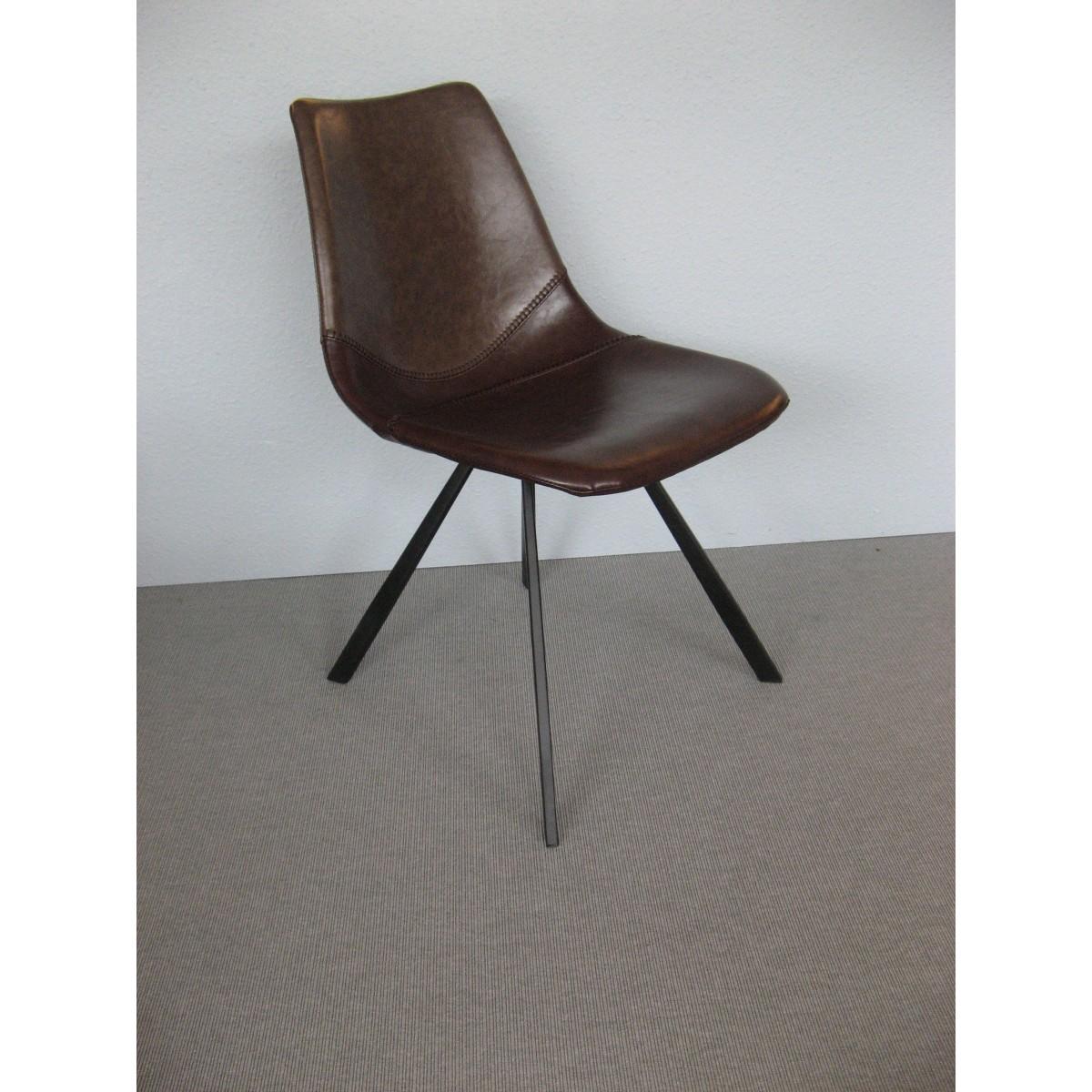 Chaise Cuir Brun Excellent Chaise Design Simili Cuir