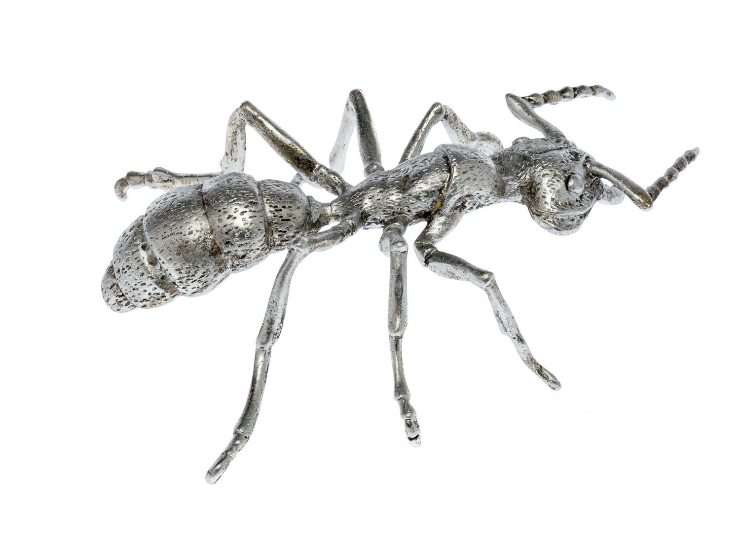 Pewter Figurine In The Form Of An Ant Silver Insect Tin