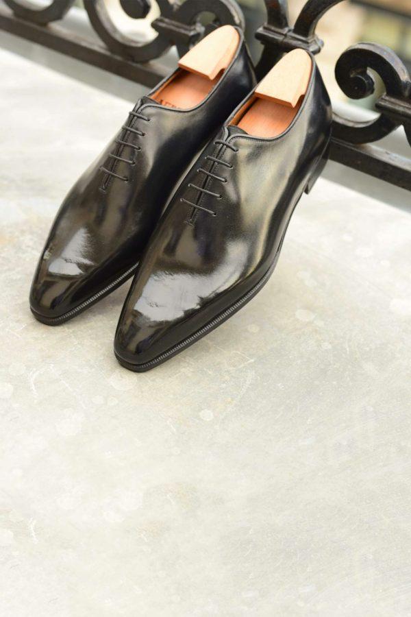 Le richelieu Oxford one-cut Xavier en cuir noir