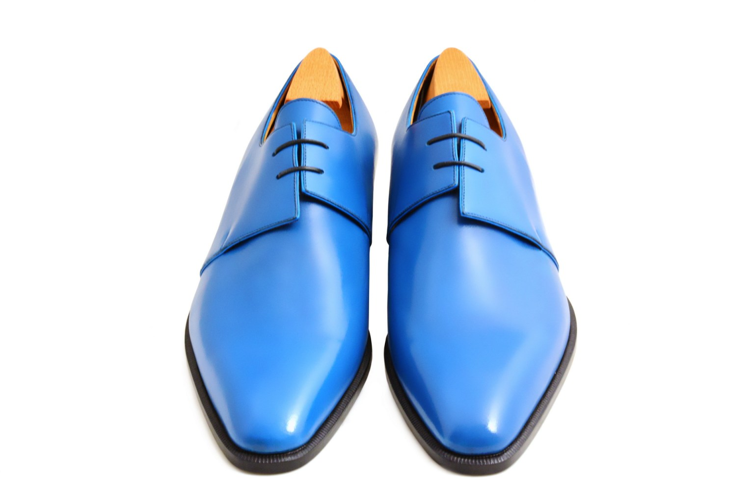 Le derby Sigmund en cuir bleu France