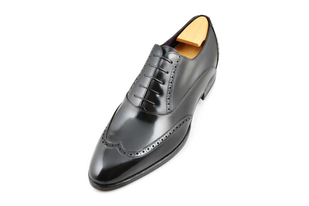 Le richelieu oxford Gordon en cuir noir