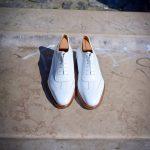 Le sneaker Aubercy en cuir blanc