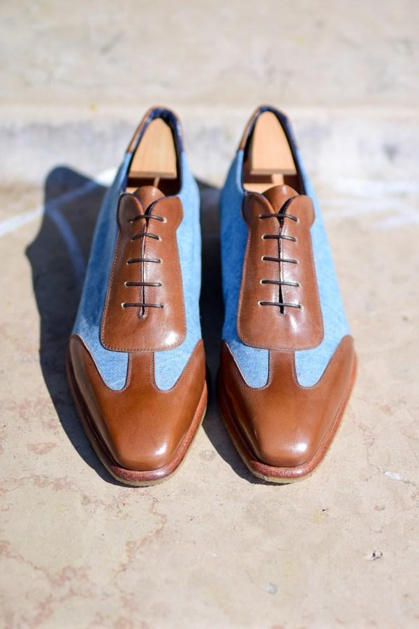 sneakers-bleu-jeans-marron-1