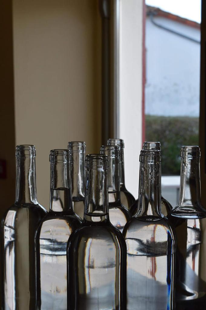 photo bouteilles stylisée