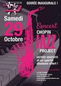 Affiche dela soirée Jazz du 29 octobre 2016 chez GIGI