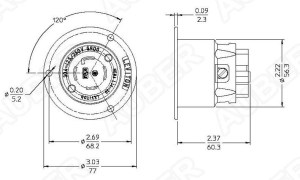Leviton 125250V 30A NEMA L1430P Locking Flanged Inlet