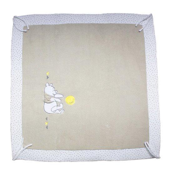 winnie let s party tapis de parc 100x100 cm beige