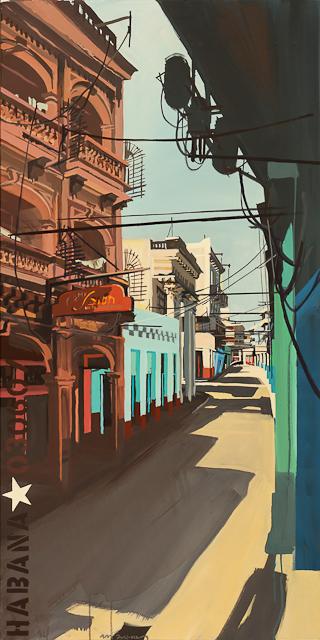 Peinture - Acrylique sur toile de Centro Habana par Michelle Auboiron