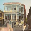 Villa Rosa à la Havane par le peintre Michelle Auboiron