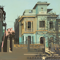 La maison verte - Peinture de la Habana par Michelle Auboiron