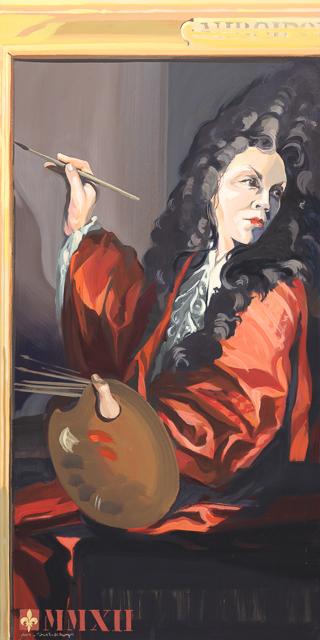 Stagiaire (autoportrait) - Détournement des tableaux officiels du Château de Versailles par Michelle Auboiron