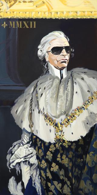 Incognito - Détournement des tableaux officiels du Château de Versailles par Michelle Auboiron