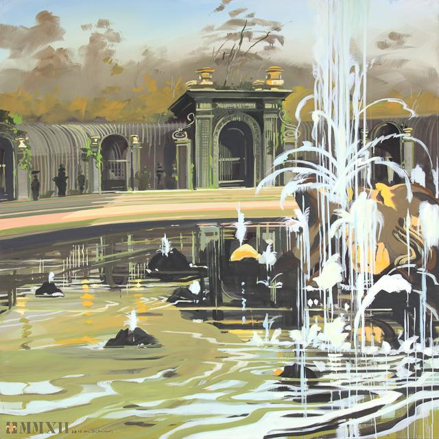 Le Bosquet de l'Encelade - Peinture du Parc du Château de Versailles par Michelle AUBOIRON