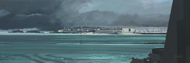 Peinture de Saint Malo par Michelle AUBOIRON