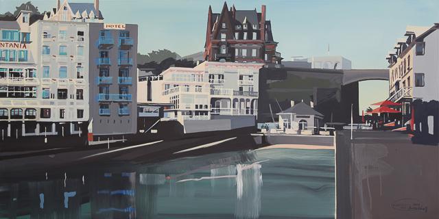 Peinture du Bric à Brac à Dinard par Michelle Auboiron
