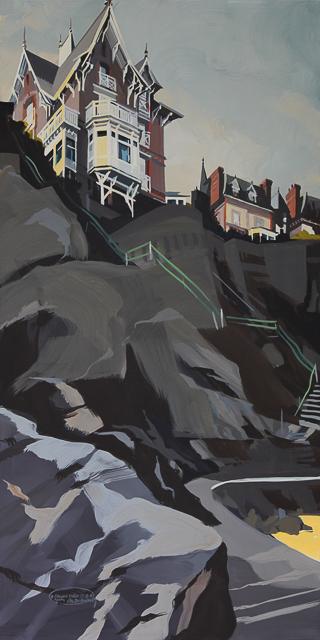 Peinture de Dinard par Michelle Auboiron - Villa Cézembre