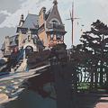 Peinture du Château Richeux à Cancale par Michelle Auboiron