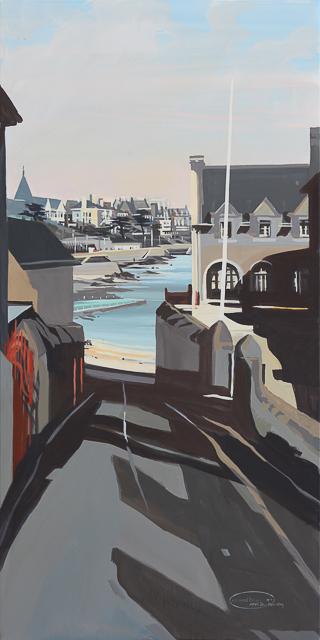 Peinture de Dinard de Michelle Auboiron : Le Prieuré
