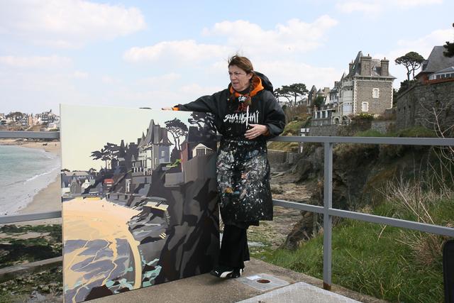 Peinture en direct en Bretagne par Michelle AUBOIRON