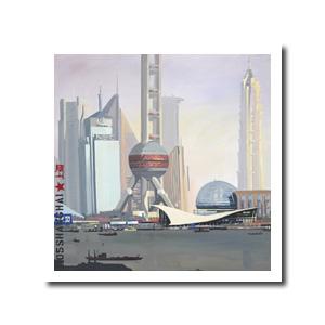 Reproduction des peintures de Michelle AUBOIRON - Exemple : reproduction 100 x 100 cm