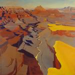 Peinture du Grand Canyon par Michelle Auboiron - Lyell Butte