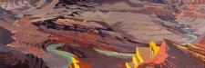 Peinture de l'Ouest américain par Michelle Auboiron - Grand Canyon - Arizona - Lipan Point