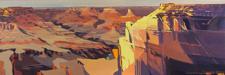 Peinture de l'Ouest américain par Michelle Auboiron - Grand Canyon - Arizona - Mohave Point
