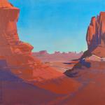 Peinture de l'Ouest américain par Michelle Auboiron - Monument Valley - Arizona - Utah