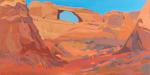 Peinture de l'Ouest américain par Michelle Auboiron - Skyline Arch - Arches National Park - Moab - Utah