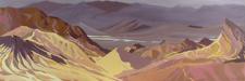 Peinture de l'Ouest américain par Michelle Auboiron - Zabriskie Point - Death Valley - California